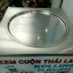 máy làm kem cuộn chảo inox